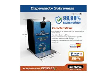Dispensador Gel Sobremesa