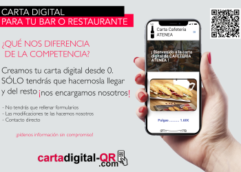 Carta digital QR – SIN FORMULARIOS
